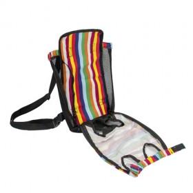 Suporte frontal, tipo cangura, para transporte de pets -tamanho grande - 38x20cm - multicolor