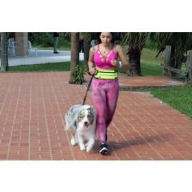 Guia de Cintura para caminhada/corrida com cães- Laranja e Cinza peso 0,320 kg