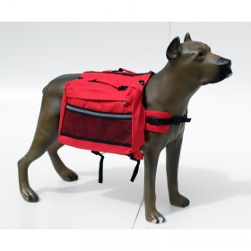 Suporte de carga dorsal para cães - tamanho médio -36x32x23 cm - vermelha