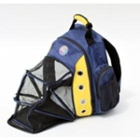 Mochila com abertura frontal para transporte de pets - tamanho - 43x29x27cm - azul