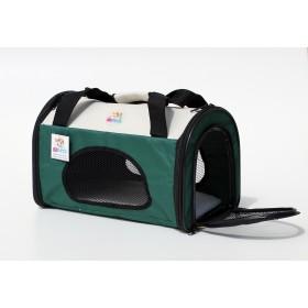 Pet Carrier - mala de tranporte para pets- tamanho grande - verde/bege - 43x29x30cm - dobrável