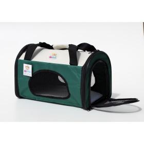 Bolsa de transporte de pets - dobrável - tamanho grande - 38,5x23x22,5cm - verde/laranja