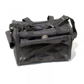 Bolsa de transporte de pets - preta - tamanho 48x30x28cm - aprovada em cabine de avião