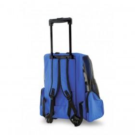 Backpack - mochila com rodas - 40x35x55cm - azul - tamanho grande