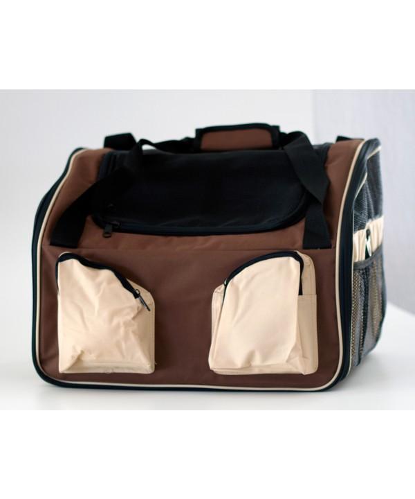 Booster seat - mochila para carro - 51x41x41cm - grande - bege - com alça e trava interna