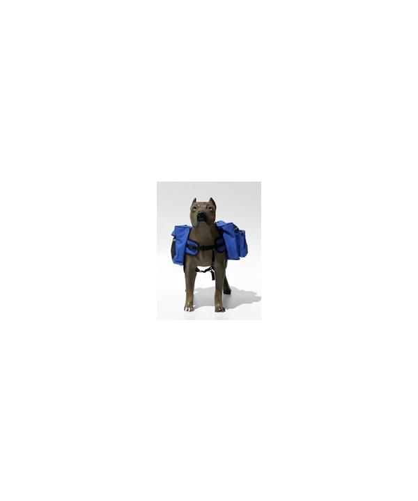 Suporte de carga dorsal para cães - tamanho grande - 36x28x33cm - azul