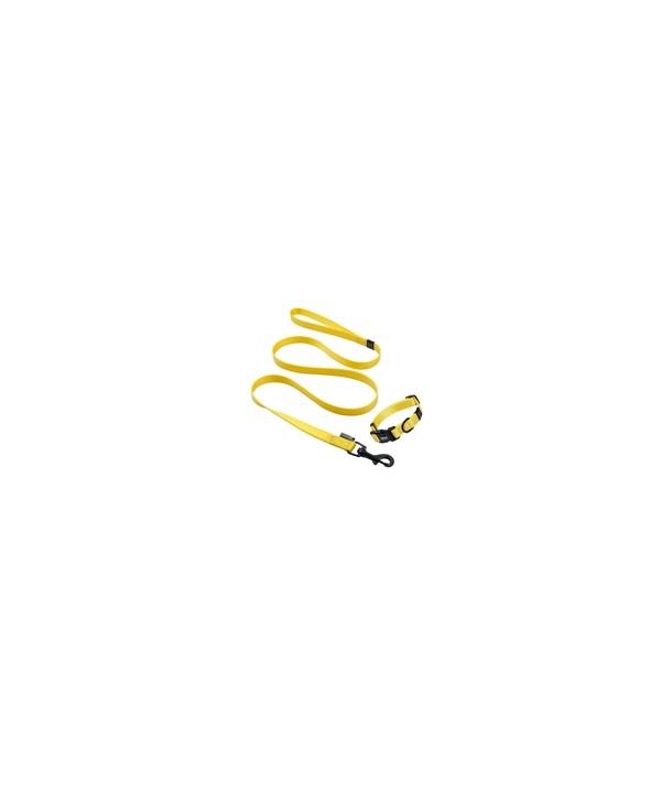 Guia impermeável, em borracha Wat-TexTM,  cor sólida- extra grande - 25mm largura - com 1,20mt - para pets de até 30 kgs- cor amarela
