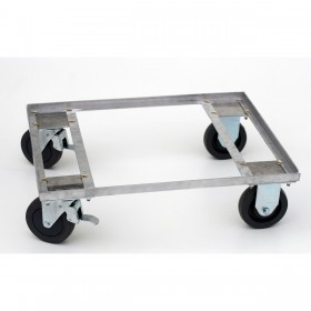 Suporte de tranporte para caixa de transporte, com rodízios de 5 polegas