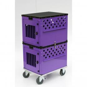 Conjunto de 02 Caixas para transporte de animais - tamanho 52 x 67 x 47 cm, com 16 kgs, para animais de até 15 kgs, em cada caixa. Certificada IATA para