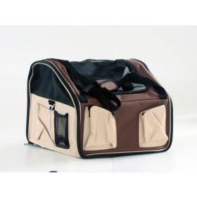 Booster seat - mochila para carro - 38x28x21cm - pequena - bege - com alça e trava interna