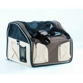 Booster seat - mochila para carro - 42x36x33cm - média - bege - com alça e trava interna