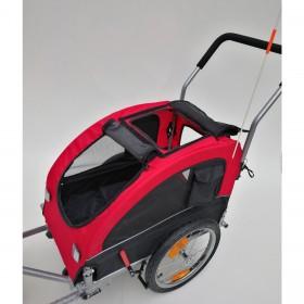 Carrinho de passeio com acoplamento para Bicicleta - 119x67x105 Suporta 50 kg- pesa 16 kg