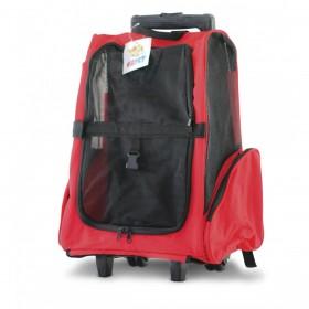 Backpack - mochila com rodas - 40x35x55cm - vermelho - tamanho grande