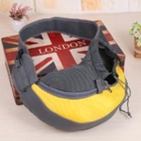Pet carrier - bolsa tira colo para transporte de pets - tamanho pequeno - 35x20x8,5cm - amarela