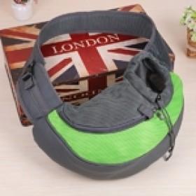Pet Carrier - bolsa tira colo para transporte de pets - tamanho grande - 40x26x13cm - verde