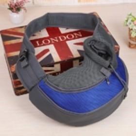 Pet carrier - bolsa tira colo para transporte de pets - tamanho pequeno - 35x20x8,5cm - azul